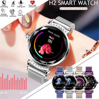Smart Watch Women 3D Diamond Glass Heart Rate Blood Pressure Sleep Monitor Call Waterproof Sport Fashion H2 Ladies Smartwatches