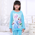 4-15Year Cartoon Anna Elsa Girls Pajama Sets Plush Warm Toddler Girls Sleepwear Clothes Baby Pants Kids Nightie Clothes Pajamas