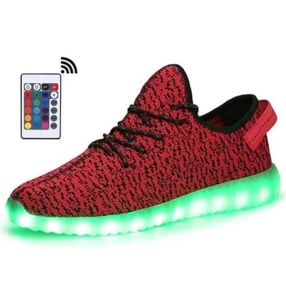 Shoes LED Light Up Trainers Mens Gray