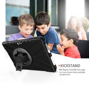 Image 4 - Fall für Microsoft Oberfläche Pro 6 Pro 5 PRO 4 tablet Kinder Stoßfest Abdeckung 360 Rotierenden Ständer hard & Hand strap + Neck Strap