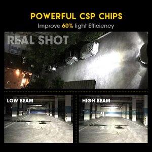 Image 3 - Hlxg 2 adet CSP H8 H11 lamba H4 Led H7 H1 H3 araba kafa lambası ampulleri otomatik S1 N1 H27 881 HB3 HB4 otomotiv 12V 50W 8000LM 6000K