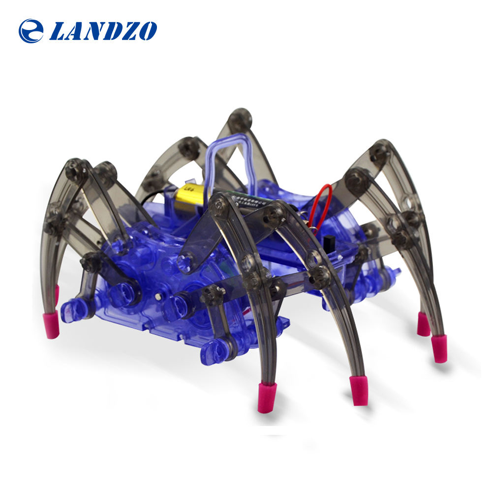 DIY Assemble Intelligent Electric Spider Robot Toy Educational DIY Kit Hot Selling Assembling Building Puzzle Toys High Quality child gift multifunctional high quality dog toy electric intelligent electric dot dog educational toy can be chased