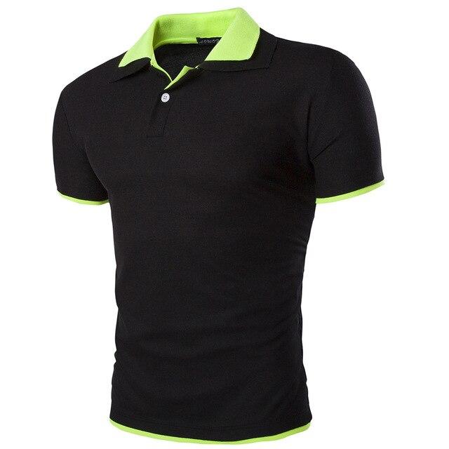 Топ мода 2016 мужская поло бренд одежды повседневная рубашки поло фитнес майку, летний стиль мужская одежда 15 цвет