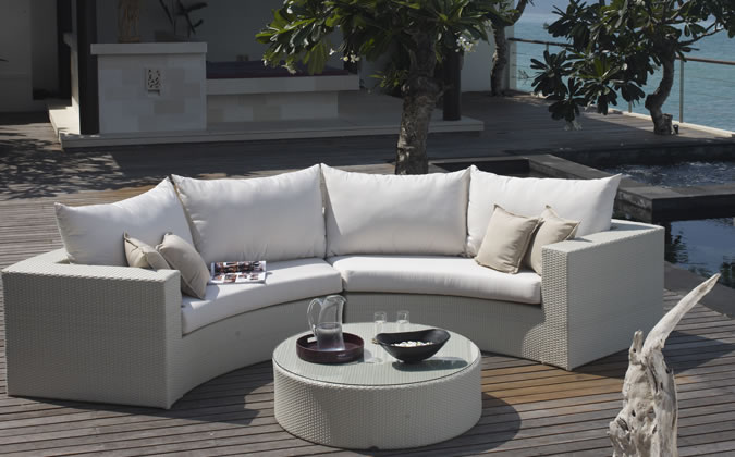 2017 Hot Sale Cheap White Small Wicker Outdoor Indoor Furniture