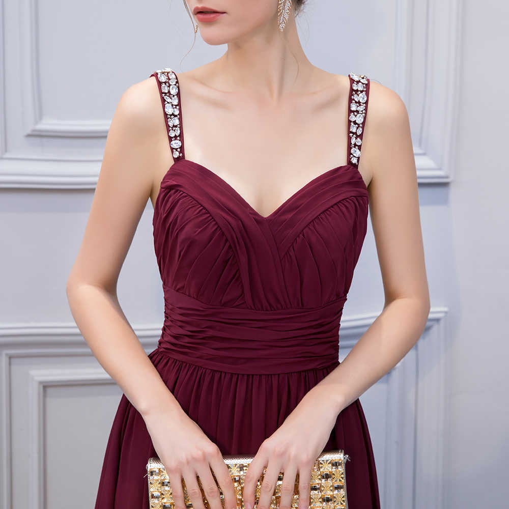 b720fe9964e4c BeryLove Simple Burgundy Prom Dresses Beading Sweetheart Chiffon Long Prom  Dress Open Back Evening Dresses Women Prom Gowns