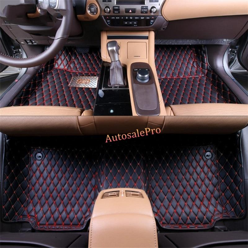 For Lexus RX200T AL20 2016 2017 Left /Right Hand Drive black Car Floor Mat carpet front rear Pad cover interior vent outlet cover trim 7pcs for lexus rx200t rx450h 2016 left hand drive car