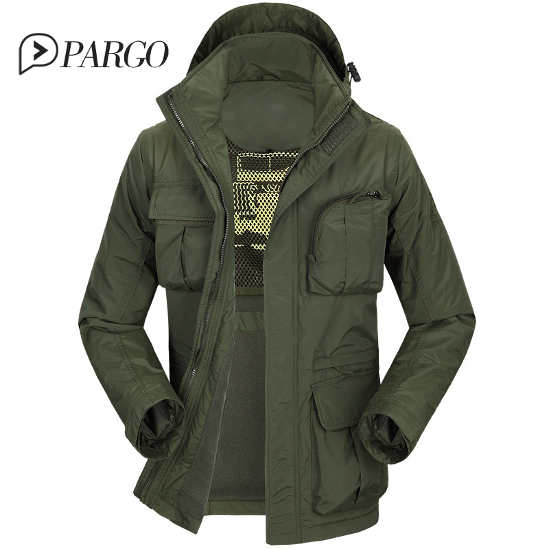 2017 brand mens clothing casual men s jackets cotton Parkas coats Military Jacket long sleeve regular