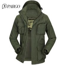 2017 brand mens clothing casual men's jackets cotton Parkas coats Military Jacket long sleeve regular plus size 877-1