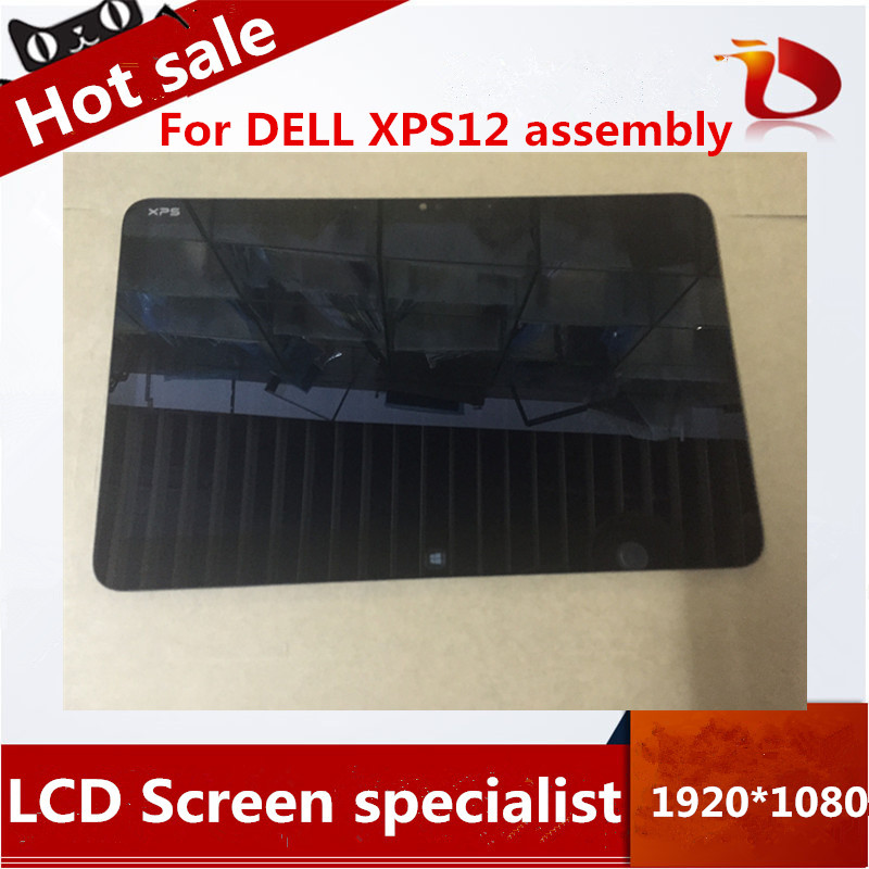 High quality 12.5'' LCD Screen display with touch digitizer Assembly For Dell XPS12  14 original new lcd screen display lcd screen lp140wh6 tj a1 lp140wh6 for dell xps 14z l412z display 0jyf5y 0fx8h0