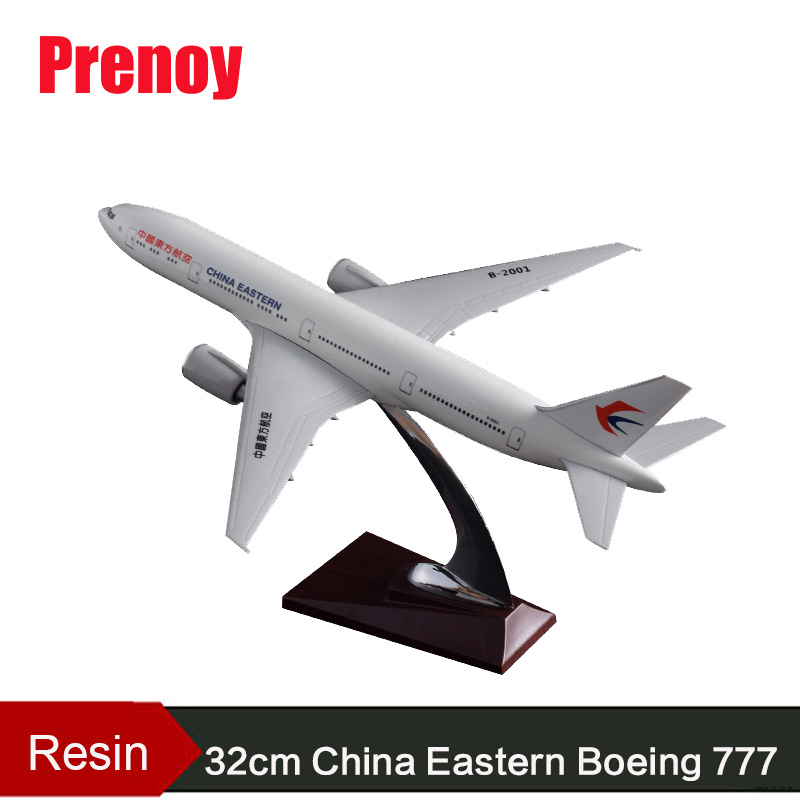 32cm Resin Aircraft Model Boeing 777 China Eastern Airlines Airplane Model B777 Airbus Airways Chinese Eastern Stand Craft Model phoenix 11074 vietnam airlines vh a143 1 400 b777 200er commercial jetliners plane model hobby