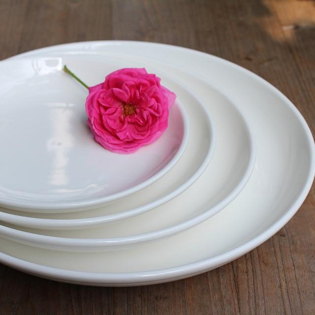 Plate white porcelain  tableware
