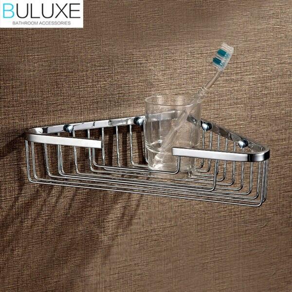 BULUXE Brass Bathroom Accessories Shelf Wall Mounted Prateleira Bath ...