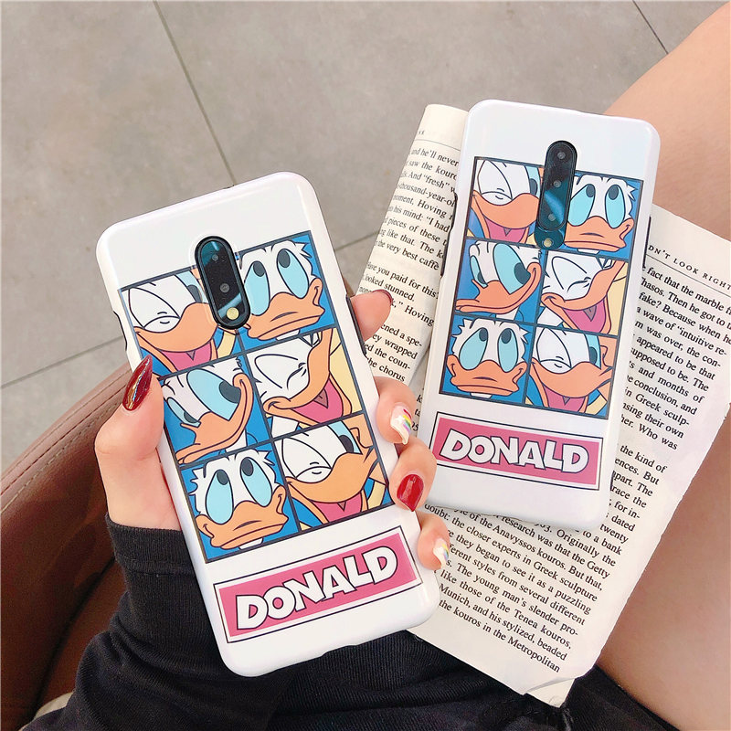 Cartoon Donald Duck Phone Case For font b OnePlus b font font b 7 b font