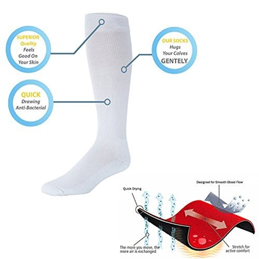 david-angie-Nylon-Pressure-Compression-Stocking-Women-Men-Varicose-Veins-Leg-Relief-Pain-Knee-High-Support