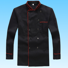 Chef Wear Long Sleeved Hotel Chef and Kitchen Work Uniforms Hotel Chef Clothing Uniform Restaurant Cooking Clothes