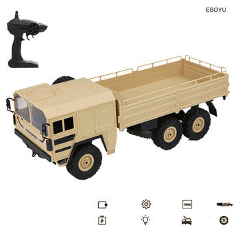 JJRC Q62 Q63 Q64 RC Military Truck 1:16 2.4G High Speed 12km/h Remote Control 4WD/6WD RC Truck Off-Road RTR Gift for Children