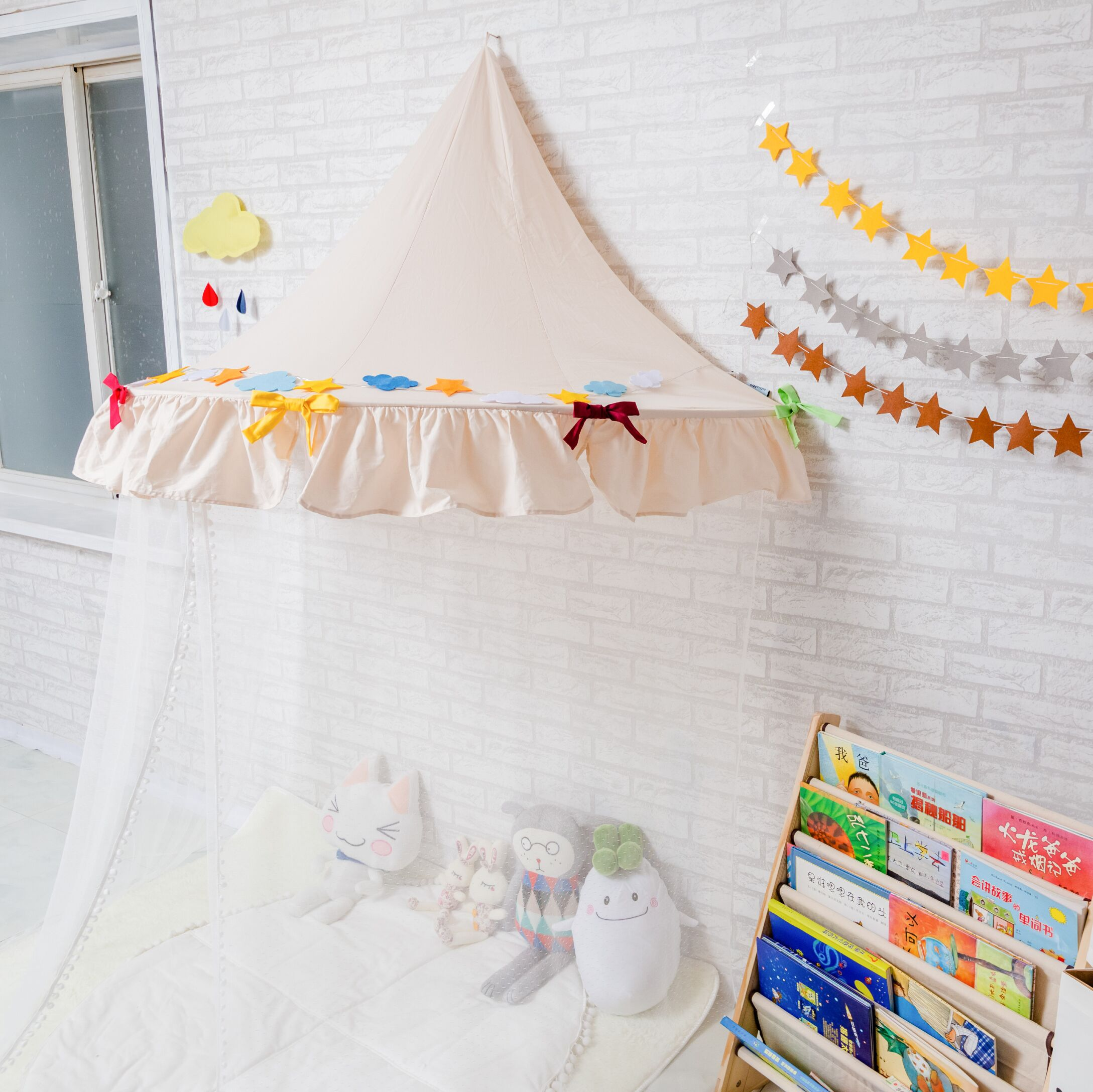 7color Cotton Indian Style Children Tent Bed Mantle Indoor Game House Baby Photography Reading Corner Toys Room Crib Netting