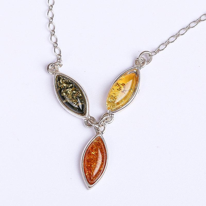 Authentique Mer Baltique cire d'abeille naturelle vase ambre pendentif 925 sterling collier en argent femelle chaîne courte ras du cou véritable nouveau