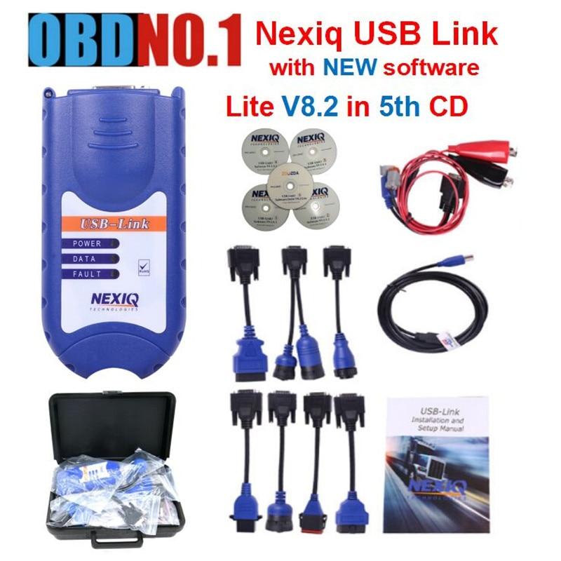 Prix pour ZOLIZDA 2017 DATE NEXIQ 125032 USB Lien Camion Diagnostiquer NEXIQ USB Lien avec Tous Les Installateurs Nexiq mieux que DPA5 DHL livraison