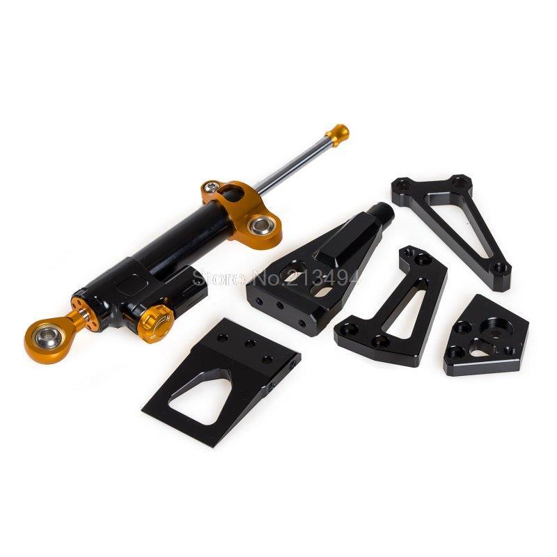 Горячая Продажа для Кавасаки ЕР-6Н/Ф ниндзя 650р 2009-2011 рулевой демпфер с Монтажный комплект черный