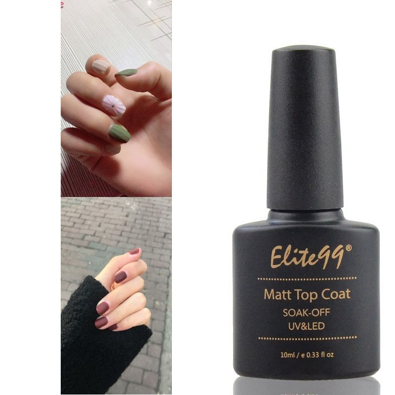 Elite99 10ml Matt Top Coat Gel Polish Base Top Coat For Nail Gel Polish Long Lasting Soak Off Nail Art Manicure UV Gel Polish