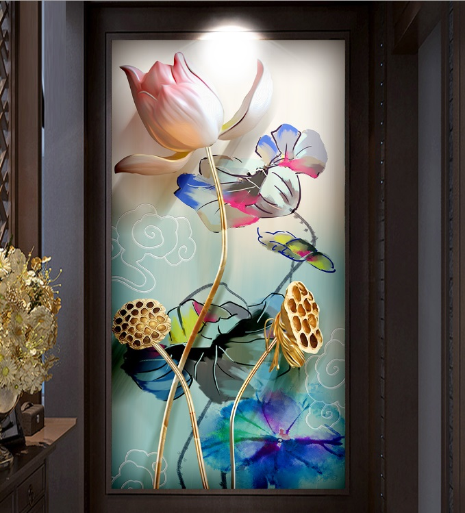 Customized size 3D Windows Glass Film Door Stickers modern sticker Art opaque Self Adhesive OR static cling Rose