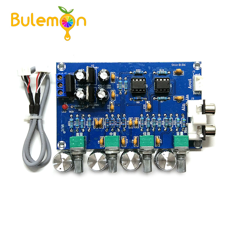 New NE5532 Stereo Pre-amp Preamplifier Tone Board Audio 4 Channels Amplifier Module 4CH CH Control Circuit Telephone PreampNew NE5532 Stereo Pre-amp Preamplifier Tone Board Audio 4 Channels Amplifier Module 4CH CH Control Circuit Telephone Preamp
