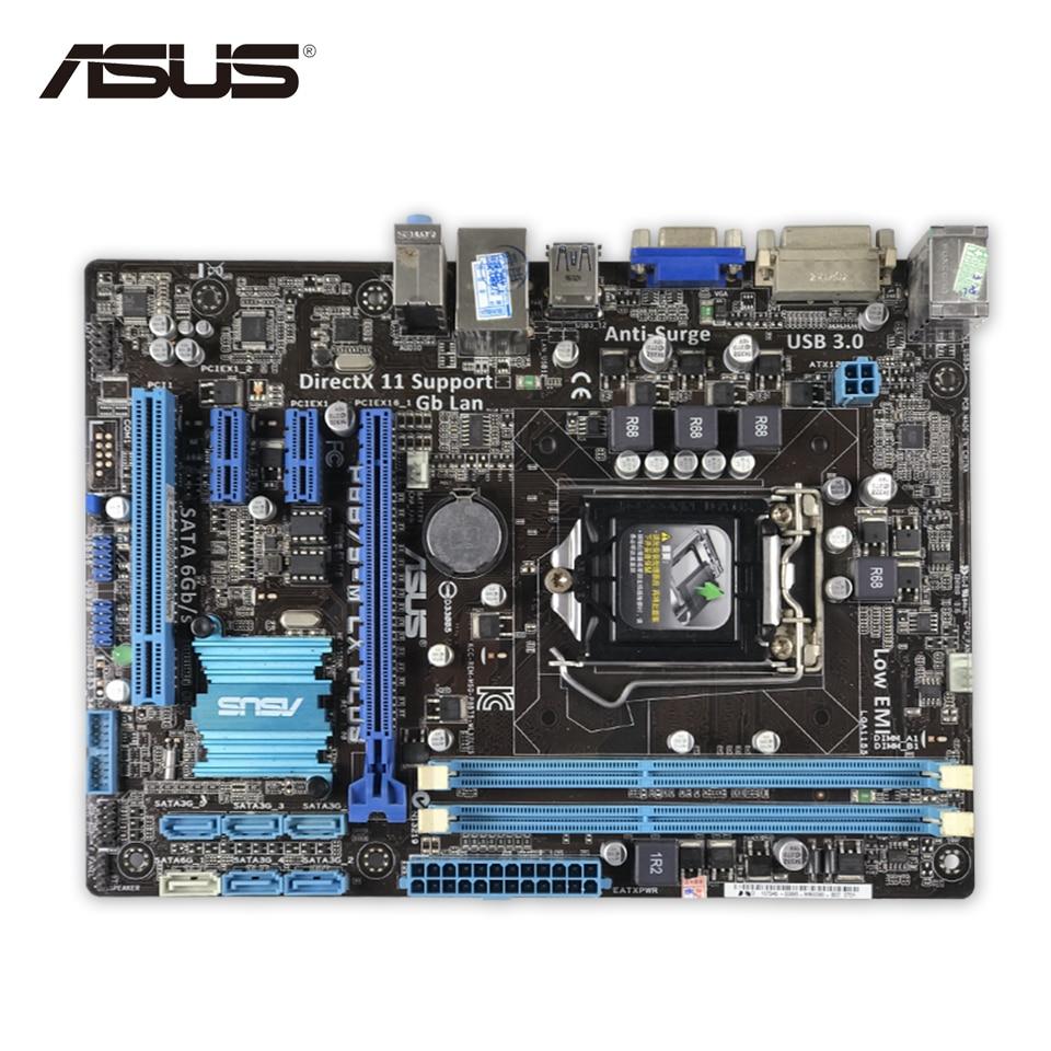 Asus P8B75-M LX PLUS Desktop Motherboard B75 Socket LGA 1155 i3 i5 i7 DDR3 16G SATA3 USB3.0 Micro ATX Second-hand High Quality asus maximus vii ranger desktop motherboard m7r z97 socket lga 1150 i7 i5 i3 ddr3 32g sata3 atx second hand high quality