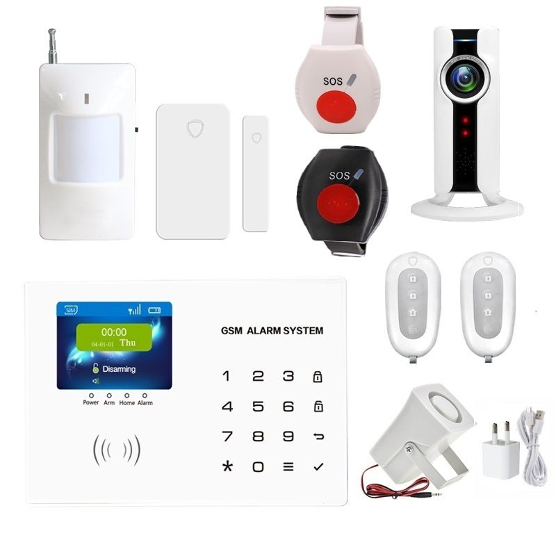 Home anti burglar security GSM Alarm System IOS/Android App control Autodial Home Security alarm system burglar alarm With SOS wolf guard wifi wireless 433mhz android ios app remote control rfid security wifi burglar alarm system with sos button