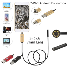 7mm Lens Waterproof Android Endoscope 1m Cable USB Endoscope Camera Inspection Borescope Car Endoscope With 4 Gifts