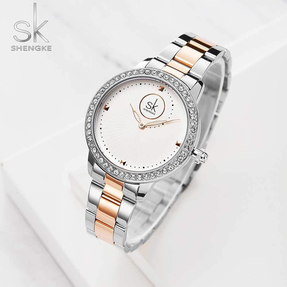 Relojes de mujer reloj de moda para mujer 2019 reloj de diseñador de Ginebra reloj de pulsera de lujo de cuarzo rosa dorado con diamantes regalos para mujer