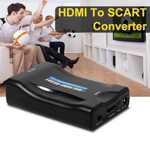 HDMI to SCART Composite Video Converter Audio Adapter with USB Cable for SKY TV(China)