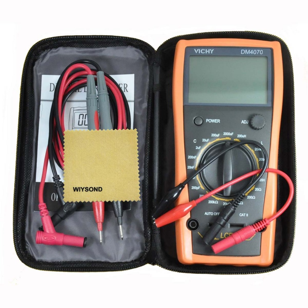 M013 Digital LCR Meter Multimeter DM4070 3 1/2 20H 2000uF 20Mohm self-discharge inductance Resistance Capacitor w/ Fluke  цены