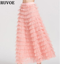 Новинка весны и осень Новый Для женщин юбка женские Модные Высокая талия плиссированные однотонные Цвет юбка Акции Леди цвета: черный, красный, розовый SP-86