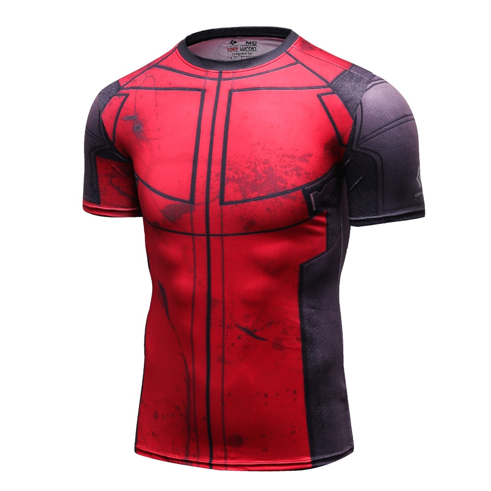 Fun deadpool shirt tee 3d printed t shirts men for Gym printed t shirts