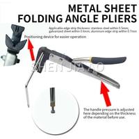 Manual Metal Sheet Folding Machine Borderless Word Stainless Steel Luminous Word Special Bender Bending Pliers Angle Clamp 1PC