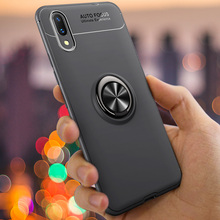 For VIVO X21 UD Case Cover Shockproof Metallic Ring Armor Back Vivo Car Holder Stand Protect Shell (S0517)