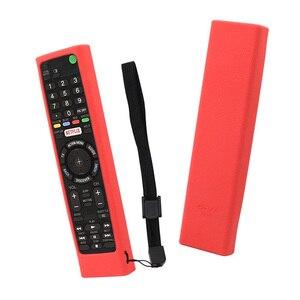 Image 4 - SIKAI etui silikonowe do SONY z pilotem RMF TX200 skóry do Sony OLED smart pilot do telewizora etui ochronne