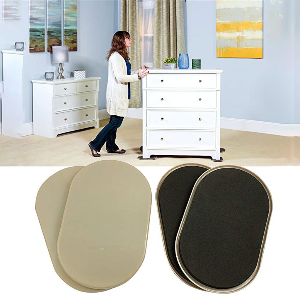 4PC Reusable Handling Sliders Across Carpeted Surfaces Heavy Furniture For Carpet Quickly And Easily Move Any Item #27/6
