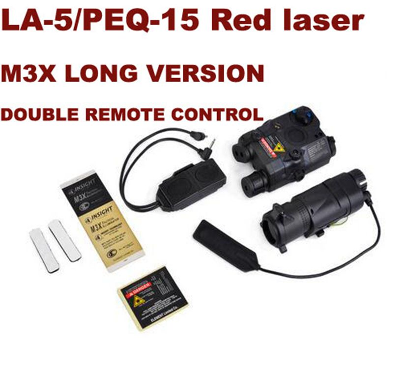 Tactical BLOCK I accessory kit include LA-5/PEQ-15 Red laser M3X LONG VERSION White light / IR / Red Laser EX423 free shipping techone katana epo red kit version not include any electronic parts