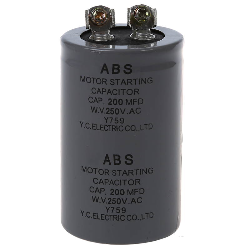 200MFD 200uF AC 250V Screw Terminal Motor Starting Capacitor
