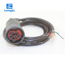 Cable, J1939 (9pin) to Open End, 6ft, 9pins Wired, Female