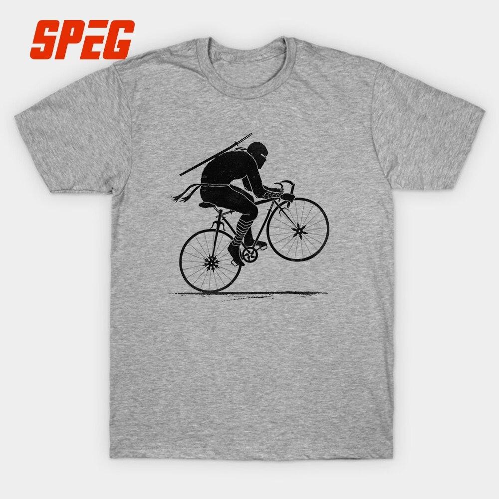 9c2427da81 Ninja Biker Road Biking T Shirt Funny Cyclists Short Sleeve Tops 100% Cotton  T Shirt Round O Neck SImple Boy Men Tees-in T-Shirts from Men's Clothing on  ...