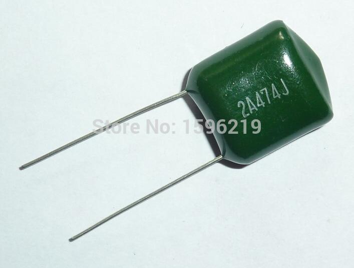 5pcs Mylar Film Capacitor 100V 2A474J 0.47uF 470nF 2A474 5% Polyester Film Capacitor