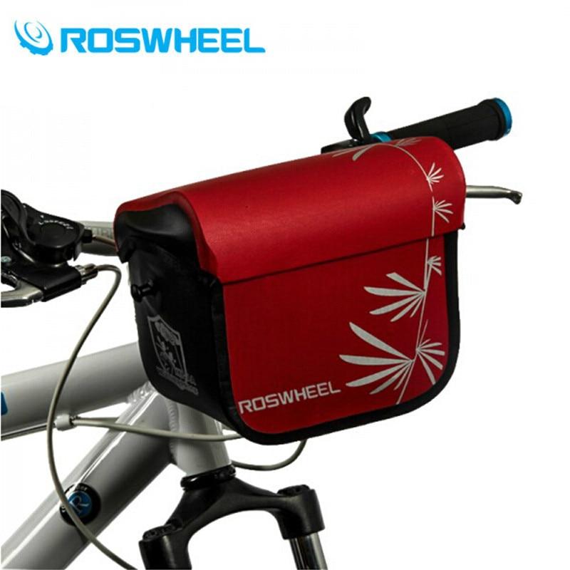 ROSWHEEL Full Waterproof Bicycle Bags 3L Bike Handlebar Bag Bicycle Front Tube Pocket Shoulder Pack Riding Cycling Supplies