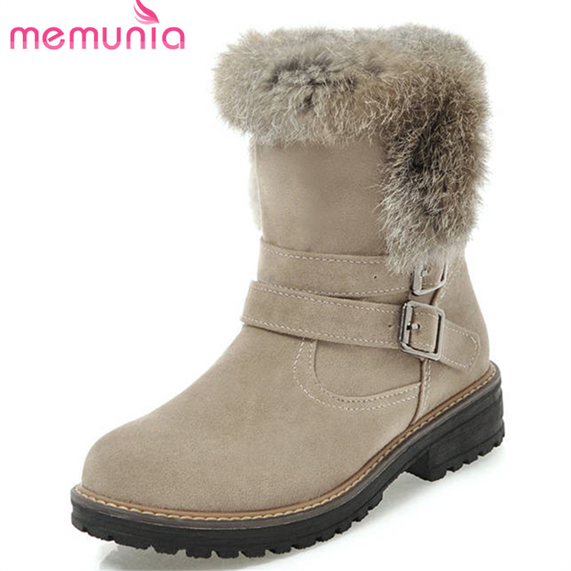 MEMUNIA 2018 russia newest winter snow boots women keep warm ankle boots buckle fashion platform boots comfortable ladies shoes fashion keep warm winter women boots snow boots 2017 buckle cotton boots women boots shoes