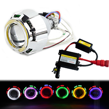 2.5 Inch 35W Car Motorcycle Bi Xenon Hid Projector Lens Motorcycle Fog Angel Eyes Headlight Projector Lens With Ballast