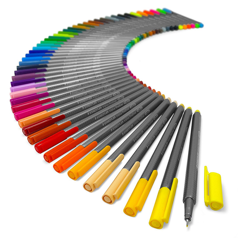 Staedtler Triplus Fineliner 334 M50 0,3mm 50 colores brillantes tinta pluma Metal Estaño - 2