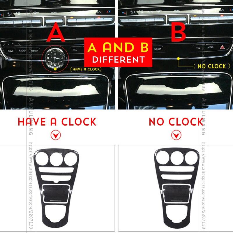 Carbon Fiber Color Console Cover Trim For Mercedes Benz C Class W205 C180 15-17