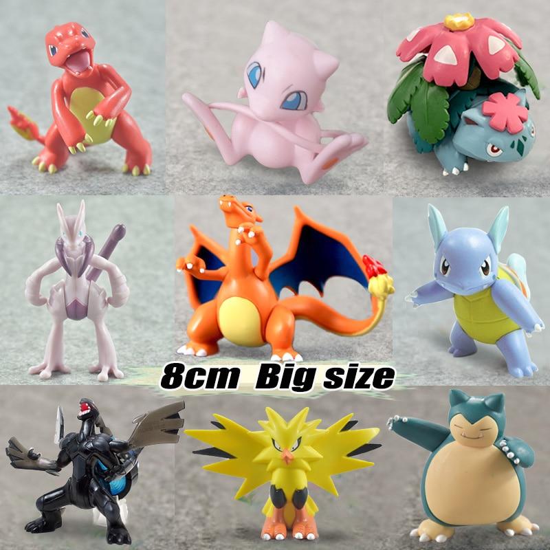 Big size Wartortle Charmeleon Delphox Ivysaur Venusaur MEGA anime action & toy figures model pokemones